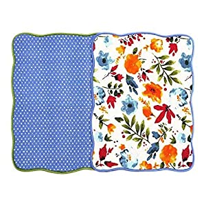 """Microfiber Dish Drying Mat 15""""x20"""" Florals Printing Best for Home & Kitchen By Bear Family- Pack of 2 (A)"""