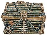 Davy Jones Cofre Coleccionable Pirata Decoración Esqueleto Contenedor