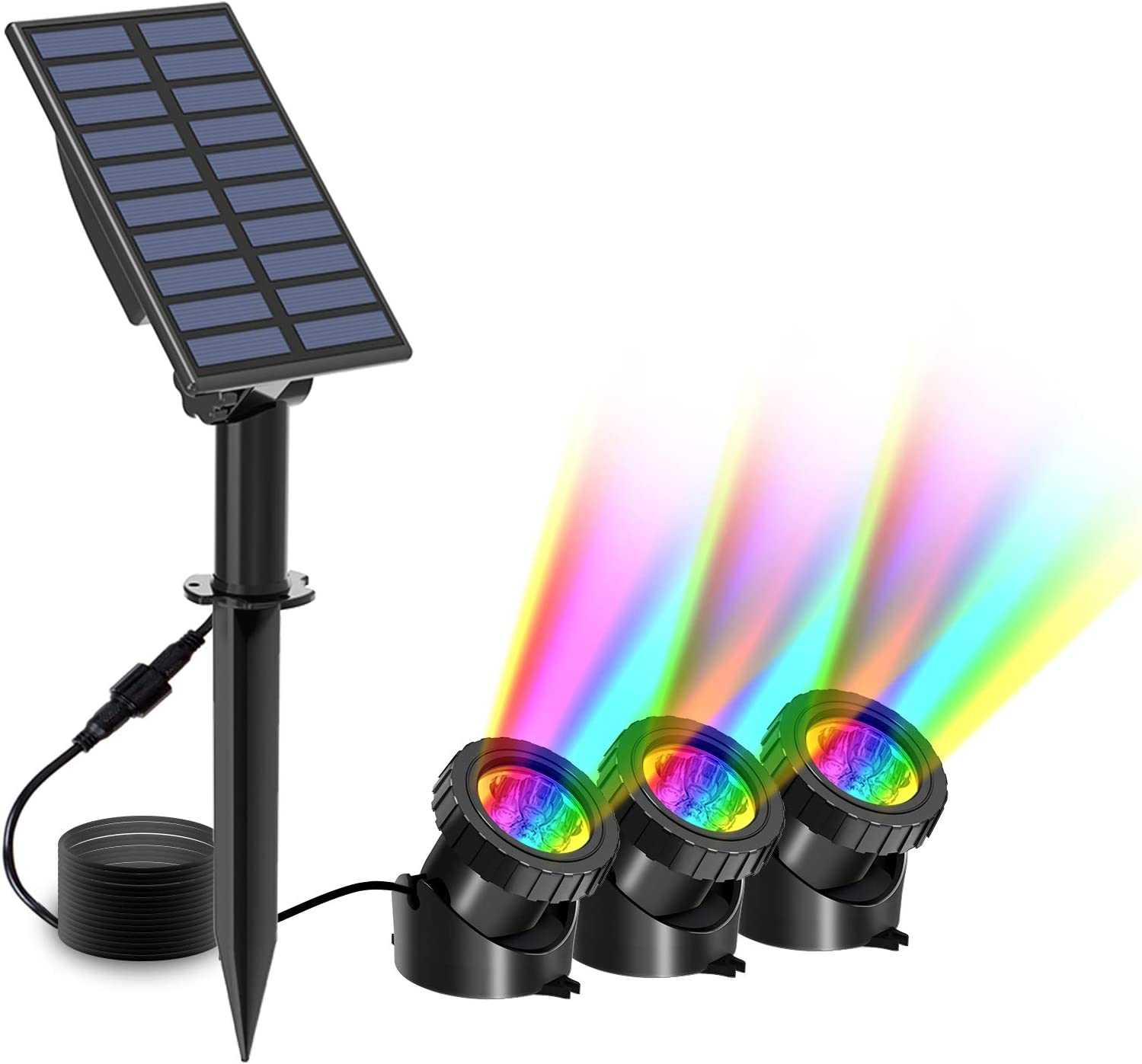 T-SUN Solar Pond Lights 3 in Underwater Popular product Changing RGB 1 Color Po Indefinitely