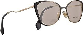 MU51QV Core Collection Eyeglasses 53-17-145 Pale Gold Grey Black w/Demo Clear Lens VYD1O1 VMU51Q