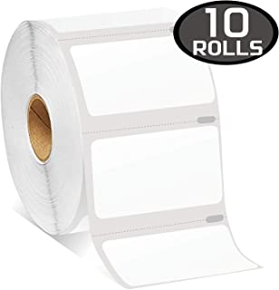 "10 Rolls DYMO 30334 Compatible 2-1/4"" x 1-1/4""(57mm x 32mm) Medium Multipurpose/Barcode/FNSKU/UPC/FBA Labels,Strong Permanent Adhesive, Perforated"