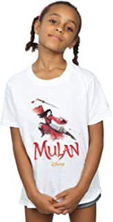 Disney Girls Mulan Movie Fighting Pose T-Shirt