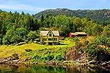 Jigsaw Puzzle 1000 Pezzi di Puzzle in Legno Regali Puzzle Fai-da-Te per Case e fienili Norvegesi