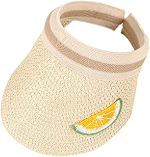 Redcolourful Kids Sun Hat Empty Straw Cap Fruit Sunshade Fashion Sun Cap For Children Beige for Birthday/Party/Christmas/F...