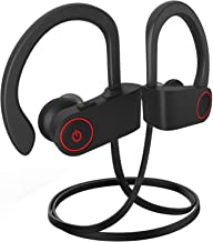 Bluetooth Headphones, Bluetooth Earbuds Best Wireless Sports Earphones w/Mic, Stereo Sweatproof Earbuds for Gym Running Workout 10 Hour Battery Noise Cancelling Headsets A2