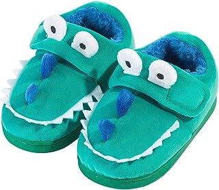 Zapatillas de Felpa Dinosaurio de Dibujos Animados para niños y niñas Invierno Otoño Casa cálida Zapatos Interiores para n...