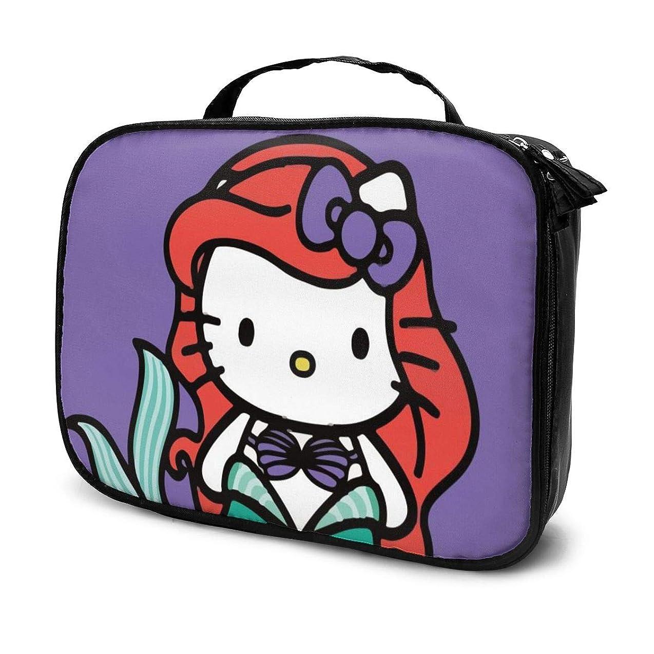 聞く導体公園Daituハローキティ 化粧品袋の女性旅行バッグ収納大容量防水アクセサリー旅行