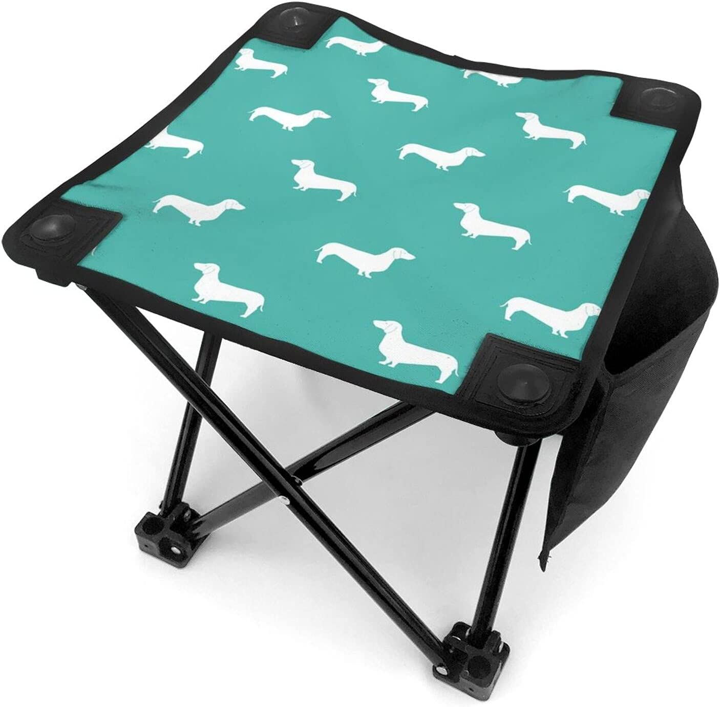 Dogs Animal Pattern Our shop OFFers the best service Green Portable Chairs Challenge the lowest price Camping Stool Folding
