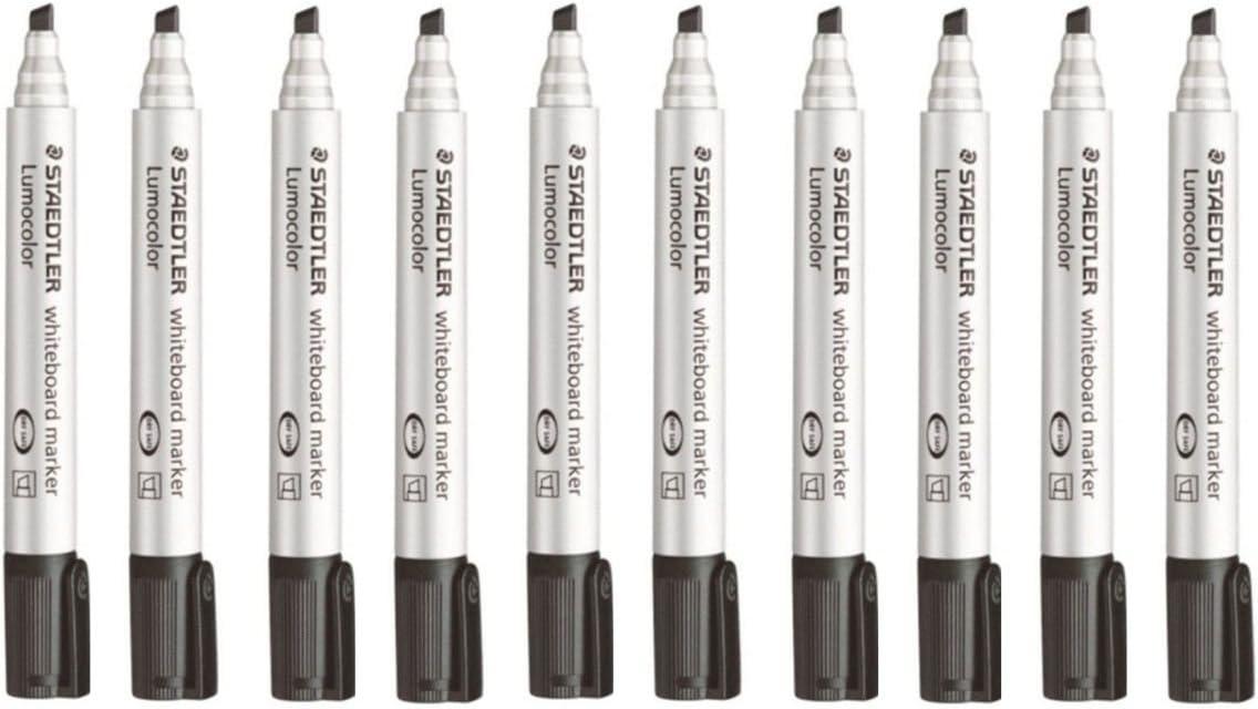 Staedtler Lumocolor Black Chisel Cash special price Tip Markers 1 Whiteboard Board Max 51% OFF