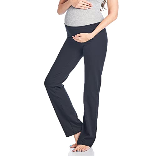 d8e64b15407b4 Beachcoco Women's Maternity Fold Over Comfortable Lounge Pants Made in USA