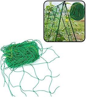 Yahpetes Garden Netting 1Pcs Garden Climbing Net Plant Trellis Plant net trelli Green Strong Nylon Ft Netting Heavy Duty N...