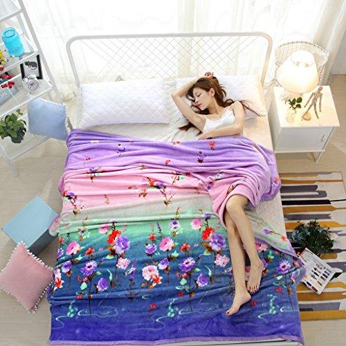 Wddwarmhome Couvertures Chaudes de lit de Chambre à Coucher de Polyester de Couverture Chaude d'hiver Couvertures de Loisirs de Quatre Saisons Couvertures (Taille : 150 * 200cm)