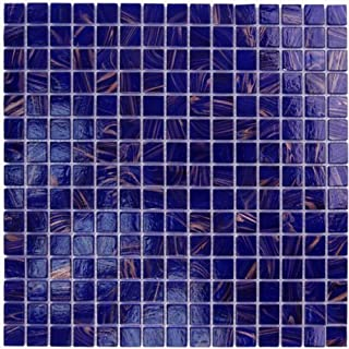 Cobalt Blue Copper Glass Tile 3/4