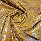 Textile Station Samtstoff, 111,8 cm breit, gelb,