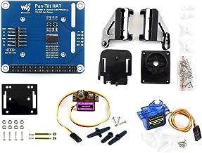 Waveshare 2-DOF Pan-Tilt HAT for Raspberry Pi Zero/Zero W/Zero WH/2B/3B/3B+ Light Intensity Sensing Control Camera Movement I2C Interface