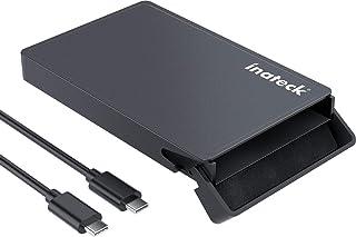 Inateck SATA naar USB C externe harde schijf behuizing voor 9,5 mm/7 mm 2,5 inch HDD/SSD behuizing, met USB C naar C kabe...