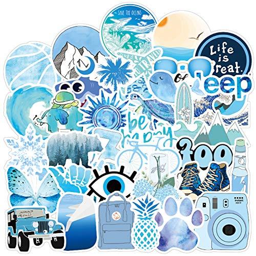 QIANGWEI Stickers 50 stuks gitaar cadeau koelkast Vsco blauw meisjes cool waterdicht laptop skateboard motorfiets