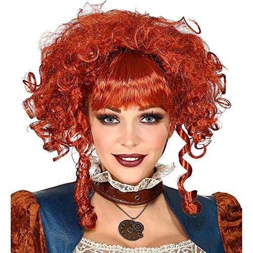 Widmann 00647 Viktorianische Steampunk Perücke, Damen, Rot, Einheitsgröße