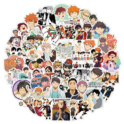 Anime Haikyuu Stickers 100pcs Waterproof Vinyl Stickers for Kids Teens Adults for Water Bottles Laptop Phone