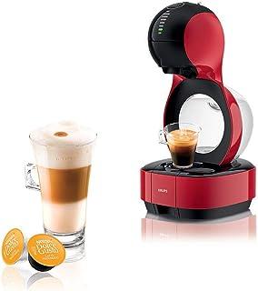 Krups Nescafé Dolce Gusto Lumio rouge, Machine à café Ultra compact, Cafetière a dosette Multi-boissons, Design, Porte cap...