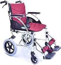 Zhi BEI Wheelchair, Aluminum Alloy Elderly Disabled Hand Push Wheelchair, Lightweight Folding Portable Travel  