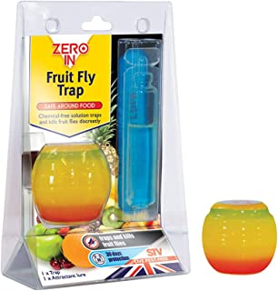 Zero In Fruit Fly Trap (Apple-Shaped, Non-Toxic, Insect Trap to Attract and Trap Bugs, Suitable for Kitchen Counters, Last...