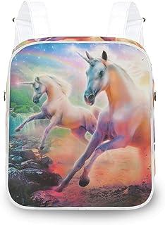 LUPINZ Unicorn Rainbow Wallpapers Mochila Duradera Bolsa de Hombro Mochila