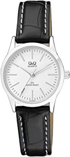 Q&Q Women's White Dial Leather Band Watch - C213J301Y