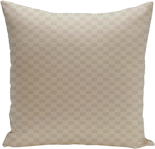 Ebydesign Geometric Decorative Pillow Oatmeal