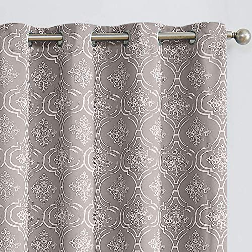 JINCHAN Blackout Curtains for Bedroom Moroccan Tile Print...