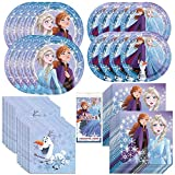 Frozen 2 Movie Party Bundle Officially Licensed by Unique | Plates, Napkins, Table Cover