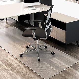 クリアチェアマット 床保護マット 90x180cm 厚さ1.5mm クリアマット 透明マット ソフト 撥水 おしゃれ 汚れ防止 お手入れ簡単 床暖房対応 滑り止め (180*90cm)