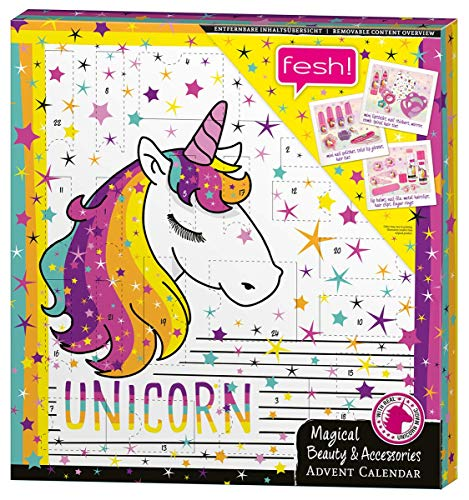 Unicorn Advent Calendar for Kids - Beauty-Advenstkalender inkl. Haaraccessoires für alle Einhorn-Fans - von fesh!