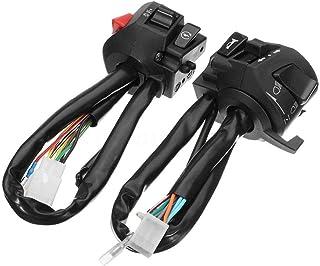 Wang shufang 2pcs / Set Corne Guidon Moto Universal Turn Signal Light Control Commutateur Accessoires Moto Pièces de Recha...
