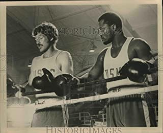 Historic Images Promo Photo Boxers Frank Converse & Joe Frazier to fight 3 rounds on NBC TV - 8.25 x 10 in