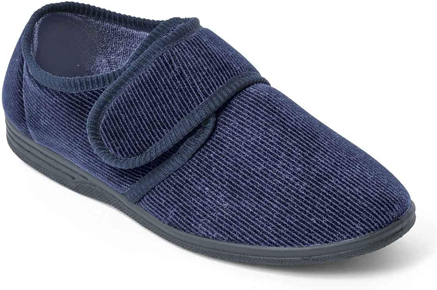 Chums Mens Wide Fit Slipper Touch Fasten : Amazon.co.uk