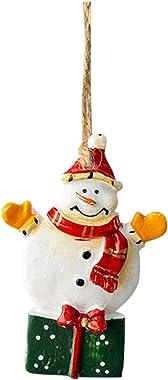 Fammison Christmas Tree Decorations, Retro Distressed Christmas Wrought Iron Old Man Pendant Decoration Accessories