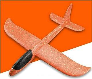 Handkasta flygplan-skumflygplan Leksaksmodellflygplan, födelsedagsfestfavörgåva, flygande leksak för 3+ åriga barn 3st,Orange