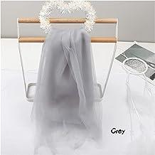 DIY ambacht, 90 * 150 cm zachte tule mesh stof regenboog kleur voor bruiloft decoratie netstoffen diy ambachten rok gordij...