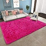 Günstige Teppiche 200x300cm, Matte rutschfeste Strapazierfähig Kinder teppiche Jungs fürWohnzimmerSchlafzimmeroderKinderzimmer Rose rot