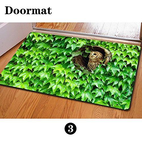 For U Designs Funny decorativo ingresso anteriore portico tappeto antiscivolo pavimento zerbino rettangolare, tessuto, owl 2, m