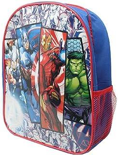 Mochila de superhéroe de los Vengadores de 31 cm con bolsillo lateral de malla para niños