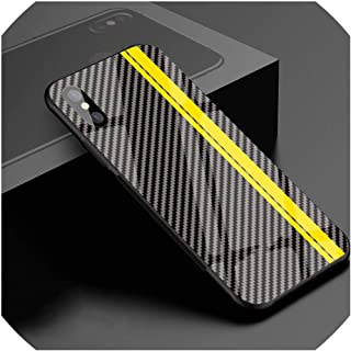 Luxury Motorsport Carbon Fiber Phone Case for iPhone X 6 S 6S 7 8 Racing Sport Tempered Glass Car Hard Cool Cover,for AMG,for iPhone XR