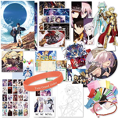 FUYUNLAI Fate/Grand Order/Anime Gift Box/Gift Bag Anime/Mystery Box Items/Anime Peripheral/Postcards/Badges/Posters/Themed Collectibles/Best Anime Fans Birthday Gift Set