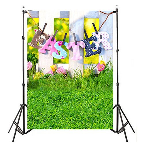 FORH Hintergrund Kulissen, Foto-Hintergrund, Vinylholz Wand Boden 3x5FT Laterne Hintergrund Fotografie Studio für Portrait, Produkt Fotografie und Videoaufnahme (90 * 150cm, Ostern C)
