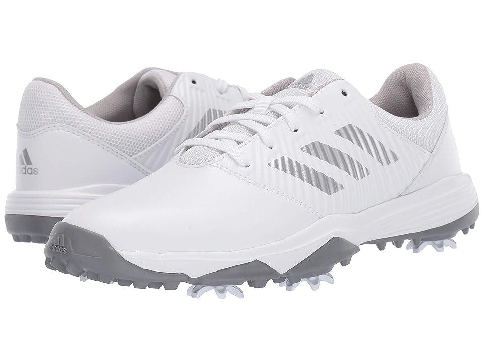 adidas Golf Jr. CP Spiked (Little Kid/Big Kid) (Footwear White/Silver Metallic/Grey Two) Men