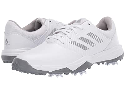 adidas Golf Jr. CP Spiked (Little Kid/Big Kid) (Footwear White/Silver Metallic/Grey Two) Men