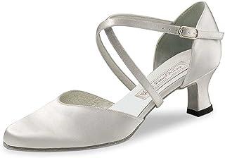 Werner Kern Femmes Chaussures de Danse/Chaussures de Marriage Patty - Satin Blanc - 5,5 cm