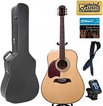 Oscar Schmidt LEFT HAND Dreadnought Acoustic Guitar, Spruce Top,Hard Case Bundle OG2NLH
