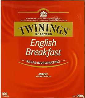 5 Pack of Twinings English Breakfast Tea Bags 100pk 200g